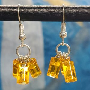 Orange LED earrings