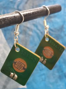 Printed Circuit Board Earrings